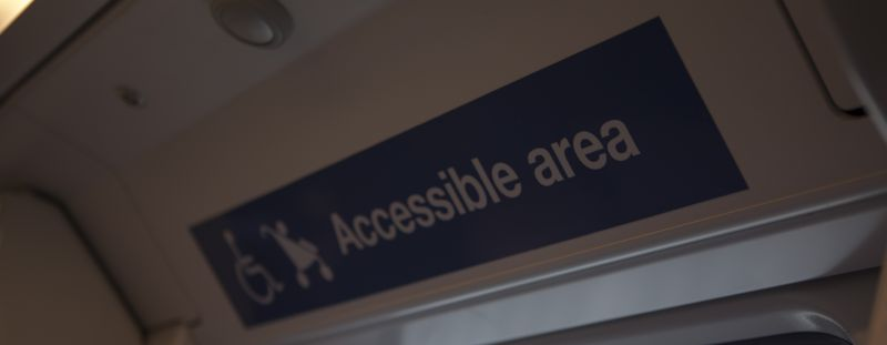 Accessible Area decal