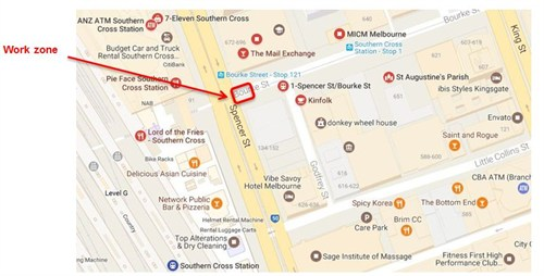 170224 Bourke and Spencer St works_Map