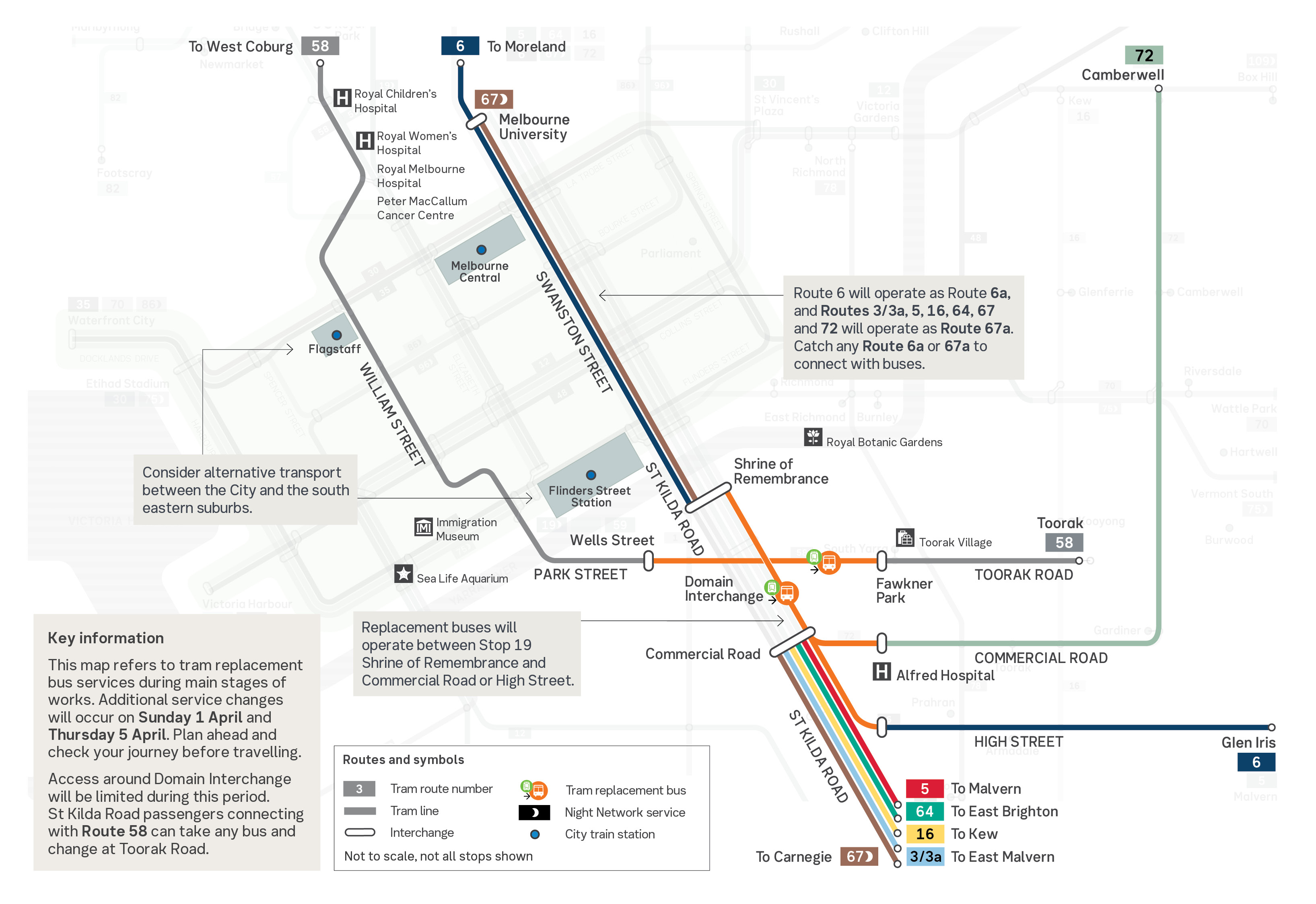 Metro Tunnel Works St Kilda Rd Sunday 1 April To Tuesday 17