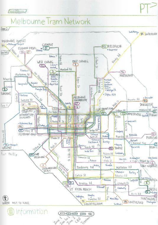Melbourne Tram Map Pdf Forward thinking   Melbourne's tram map of the future   Yarra Trams